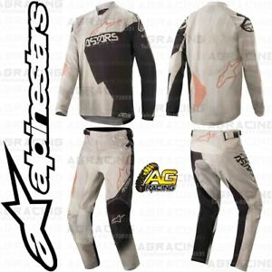 Alpinestars 2020 Racer Factory Grey Black Rust Youth Kids Jersey Pant Combo Kit