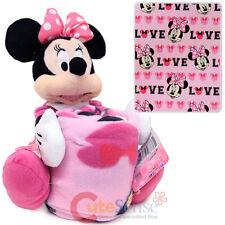 Disney Minnie Mouse Fleece Throw Blanket with Plush Doll Pillow Buddy 2pc Set