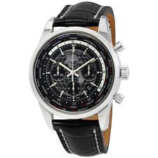 Breitling Transocean Unitime World Time Chronograph Automatic Chronometer Black