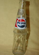 Vintage Pepsi Soda Bottle 355 mi. Hecho en Mexico. with a Nutrition fact Lable