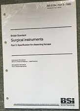 BS 5194-3:1985 Surgical instruments. Specification for dissecting forceps