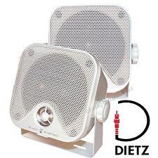 DIETZ CX4MW 2-Wege PKW KFZ LKW Aufbau-Boxen Marine Speaker Lautsprecher 90Watt