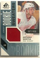 2016-17 Anthony Mantha SP Game Used Rookie Sweaters #RS-MA Detroit #/499
