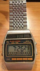 Vintage Digital Dual Time Chronograph Watch~Unbranded~See Description