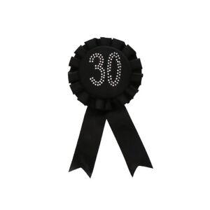Glitter Party Decor 8th 21th 30th 40th 50th Birthday Award Ribbon Badge Brooch