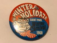 Vintage 1968 St. Paul Winter Carnival Pinback Button Winter Holidaze