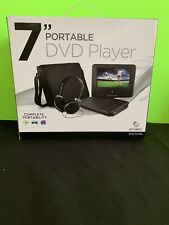 Ematic 7 inch DVD Player with Headphones and Bag - Black. New On Open Box.
