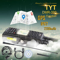 Upgraded!TYT MD-390 *GPS* DMR UHF 1000CH IP67 Waterproof Two Way Radio