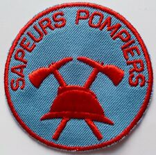Insigne tissu Patch SAPEURS POMPIERS Casque Adrian uniforme France NEUF