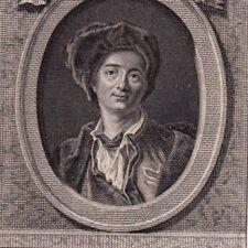 Portrait XVIIIe Bernard Le Bouyer De Fontenelle Philosophe Poète Mathématicien