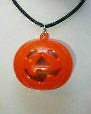 "Pumpkin Orange Halloween Light Up 23"" Necklace Party Gift Costume Accessory"