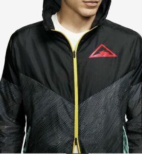 Nike Windrunner Trail Men Woven Hooded Running Jacket - Black - DJ0602 010