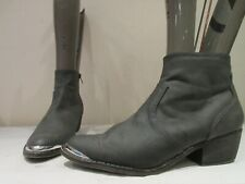 NEW LOOK GREY SYNTHETIC ZIP UP WESTERN ANKLE BOOTS BOOTIES UK 8 EU 41 (3436)