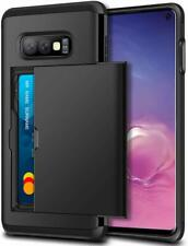 For Samsung Galaxy S10e Case - Wallet Armor Shockproof Card Holder Sliding Cover