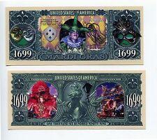 Mardi Gras   1699 DOLLAR  BILLS   lot of 5