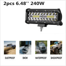 2x 6'' 240W Off Road Driving Light LED Bar Work Spot Light Fog light Waterproof