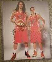 Diana Taurasi & Brittney Griner Dual Signed 11x14 Photo WNBA Phoenix Mercury