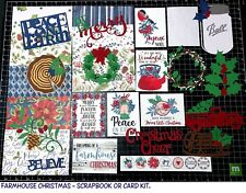 FARMHOUSE CHRISTMAS Scrapbook Kit or Card Kit! Project Life, Paper, die cuts,