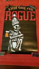 Rogue Dead Guy Ale Poster! Great Graphics vintage hard to find 22x14 Heavy stock