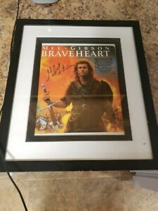 """Braveheart"" Mel Gibson autographed 13x15 Color Photo no coa"