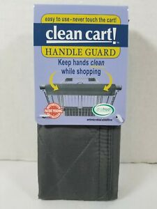 GRAY Clean Shopping Cart Handle Guard Reusable Cover Sanitary Washable Wipeable
