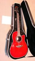 NEW Ovation 2077AX-CCB Acoustic Electric Guitar, Contour Body, Hard Shell Case