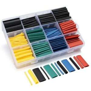 530 Pcs Box 2:1 Heat Shrink Tubing Tube Sleeving Wrap Cable Wire 5 Color 8 Size