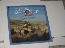 33 rpm ZOLA'S SONGS BY LAMB featuring YESHUA..PRIVATE LABEL nice SEE PICS