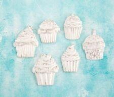 Prima Shabby Chic Treasures Ingvild Bolme Resin Embellishments cupcakes 892531
