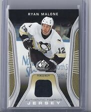 2006-07 UPPER DECK SP GAME USED RYAN MALONE AUTHENTIC FABRICS JERSEY PENGUINS