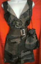 Sexy Camouflage Military Mini Dress/Tunic w/ Matching Belt & Purse-Colors Avail