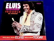 ELVIS PRESLEY~TROUBLE~NEAR MINT~RECORD & SLEEVE~RCA PB-10278<P> ~ POP 45