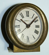 Vtg Bulova Germany German Night Stand Clock RARE 1940s 1950s a4