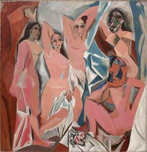 Pablo Picasso Les Demoiselles D'Avignon Giclee Paper Print Poster Reproduction