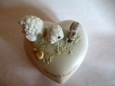 "Precious Moments ""Our Love is Heaven Scent"" Trinket Box. 1982. 3.5'' Long."