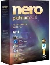 Nero 2018 PLATINUM CD/DVD BLU-RAY che bruciano versione completa licenza originale al dettaglio