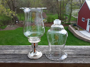 2 HOMCO Etched Wheat Tall PEG Votive Cup Candle Holders w/NEW GROMMETS Peglite
