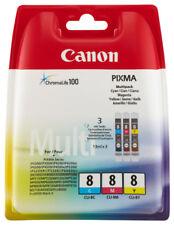 Canon CLI-8 C/M/Y Multipack Tintenpatrone Gelb, Cyan, Magenta