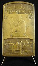Médaille La fabrication du papier sc Dautel 1914 manufacturing paper medal