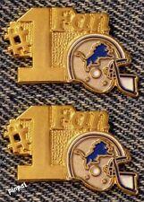 #1 Fan Lapel Pin~Detroit Lions~Lot of 2~NFL TM~Football~1980s Vintage~NOS