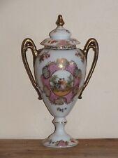 Urne ou vase potiche en porcelaine allemande Schwarzburg