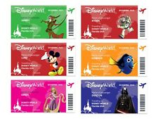 Disney Boarding Pass. Personalised With Any Character. Disneyworld or Disneyland