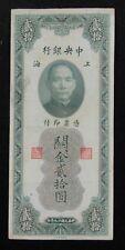 New listing China Central Bank Customs Gold Unit (Cgu) 20 Yuan 1930, #G820306