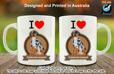 I Love Catahoula Leopard Dog Lover Coffee Personalised Custom Mug Cute Fun Gift