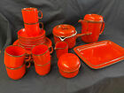 Kaffeeservice Thomas Scandic Rot keramik 6 Pers 25 tlg 70er Jahre Vintage Design