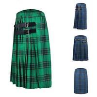 US Stock Scottish Men's Kilt Traditional Highland Dress Skirt Tartan Kilts