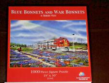 """BLUE BONNETS AND WAR BONNETS PUZZLE ROBERT WEST 1000 PC SUNSOUT 19""""X30"""""""