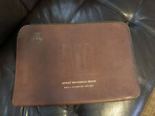 RARE 1977 Renwick leather document holder advertisement Detroit Ren Cen BMOA