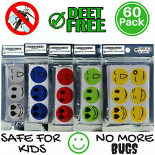 60PCS Mosquito Repellent Patch Smiling Face Protect Kids Baby Mosquito Stickers