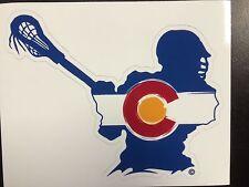 Colorado Lacrosse Player Sticker